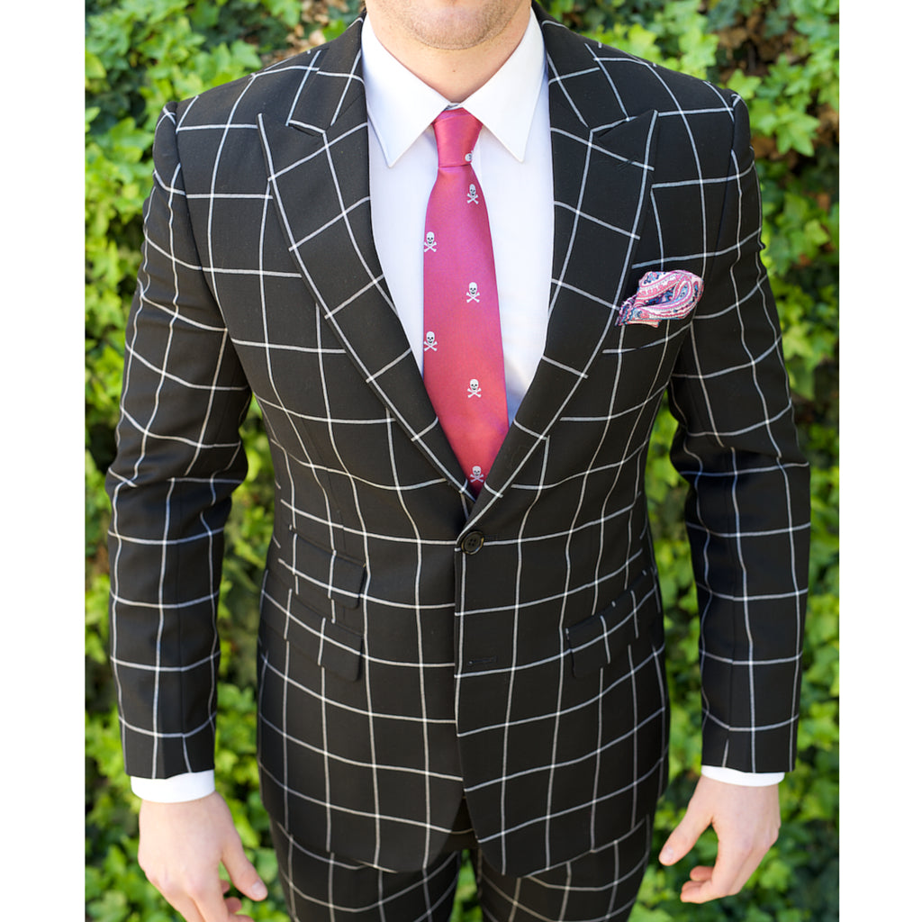 Black Windowpane Custom Bespoke Suit