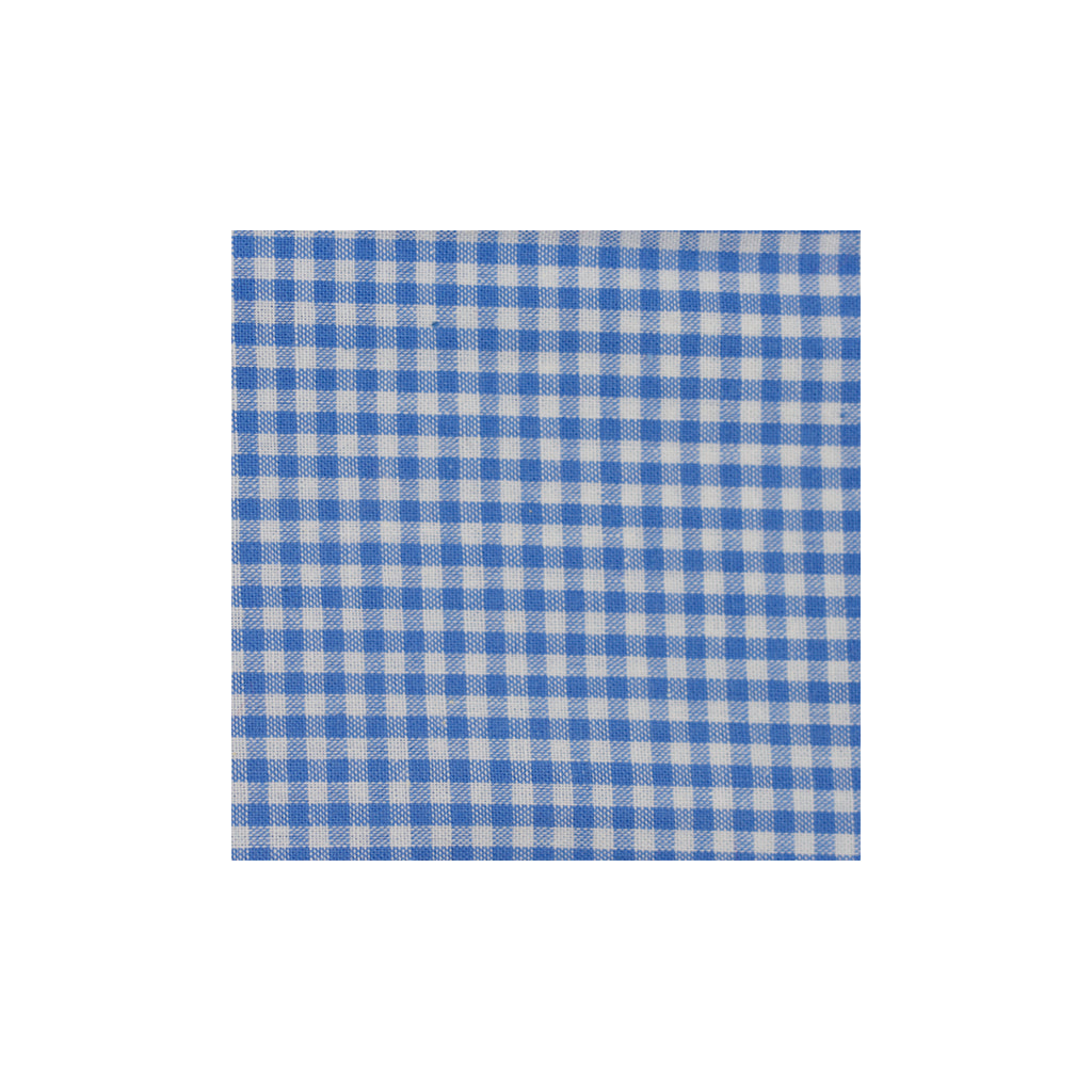 Blue Checkered Cotton Pocket Square