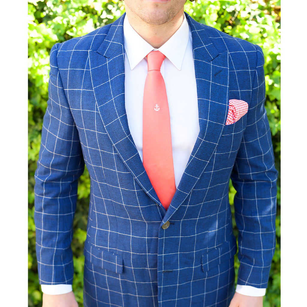 Blue Windowpane Custom Bespoke Suit