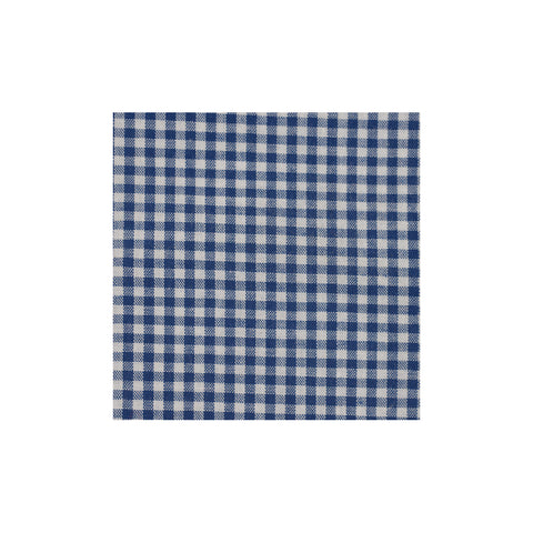 Dark Blue Checkered Cotton Pocket Square