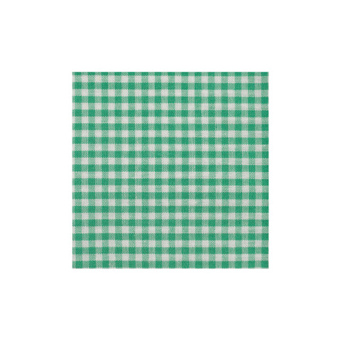 Green Checkered Cotton Pocket Square