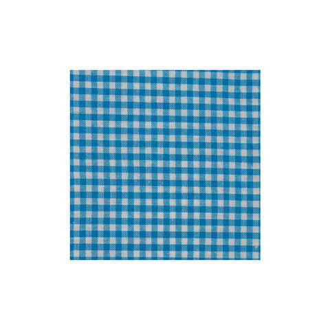 Light Blue Checkered Cotton Pocket Square