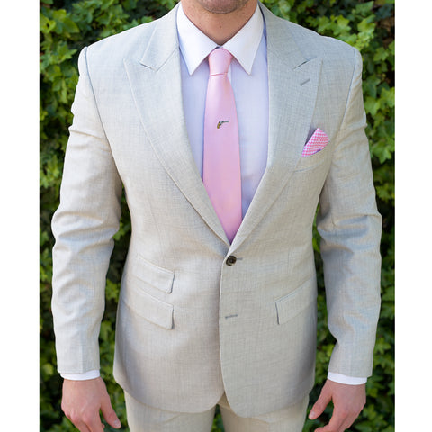Light Grey Italian Custom Bespoke Suit