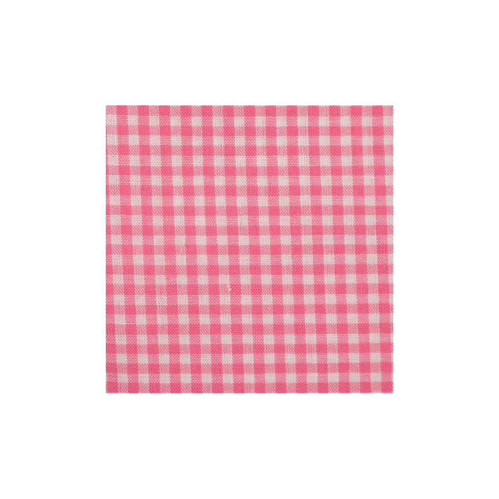 Pink Checkered Cotton Pocket Square