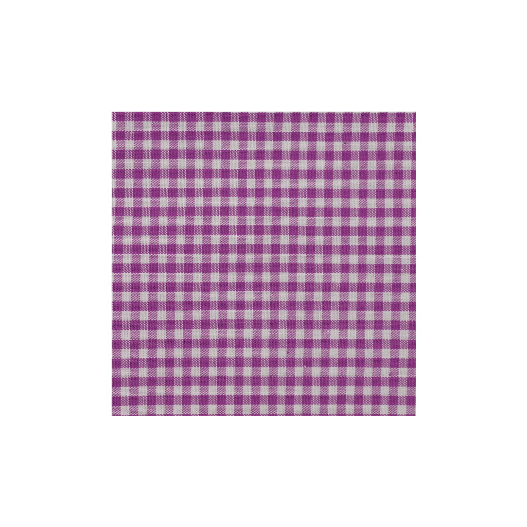 Purple Checkered Cotton Pocket Square