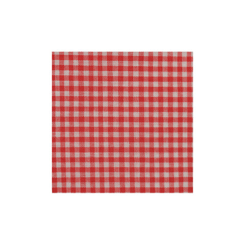 Red Checkered Cotton Pocket Square