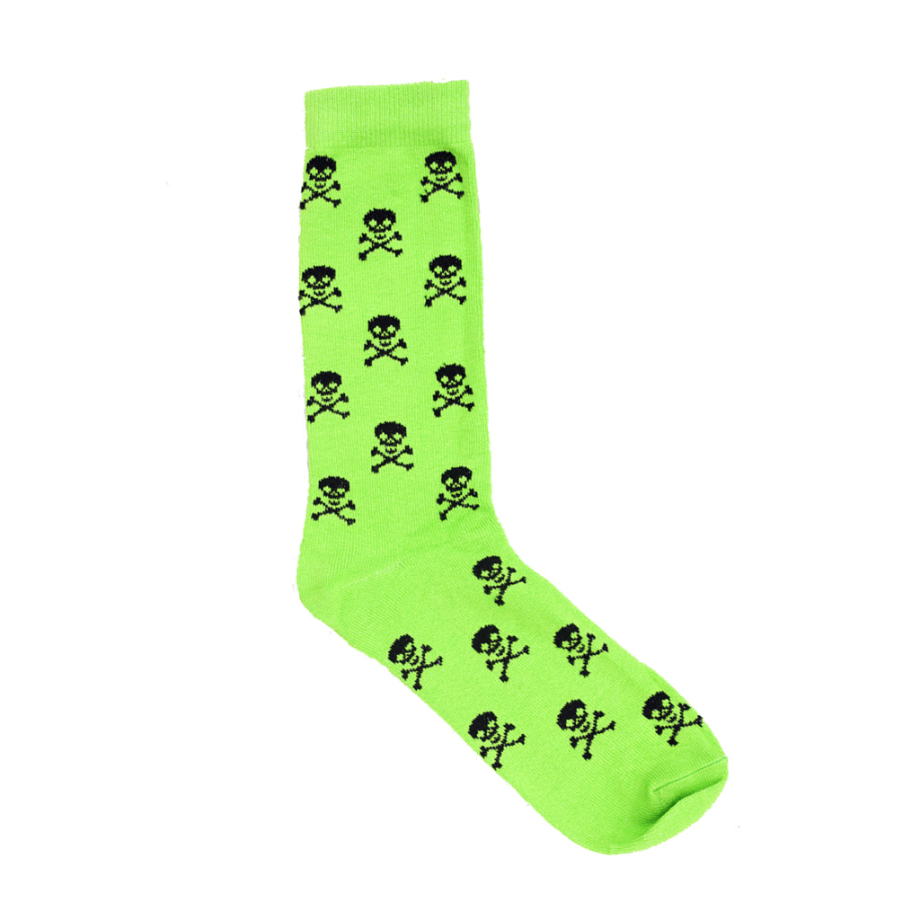 Socks - Green Skull & Crossbones Dress Socks