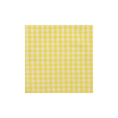 Yellow Check Cotton Pocket Square