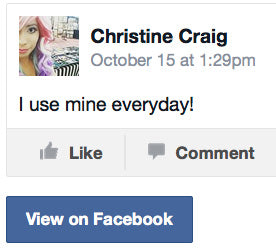 Christine Craig testimonial on Facebook of The NEVERknead polymer clay machine tool