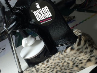 Decorate with faux fur on your NEVERknead Polymer Clay Kneading Machine tool