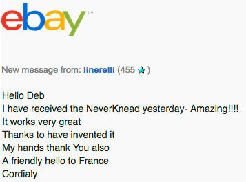 Linerelli Testimonial of The NEVERknead
