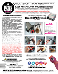 NEVERknead Manual Page 1