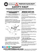 The NEVERknead Safety Instructions - Manual - Polymer Clay Kneading Machine