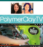 PolymerClayTV in Australia reviews The NEVERknead Polymer Clay Kneading Machine Tool