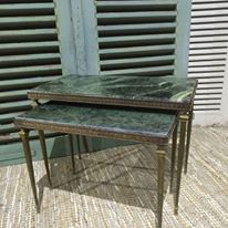 Antique French Marble Tables - www.lovinglymadeltd.co.uk