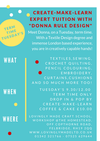 Donna Rule Design - here at Lovingly Made Craft School