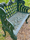 Vintage Cast Iron Garden Bench - LOVINGLY MADE FURNITURE, SUSSEX - Antique & Vintage Furniture - Antique & Vintage Furniture for your home & garden