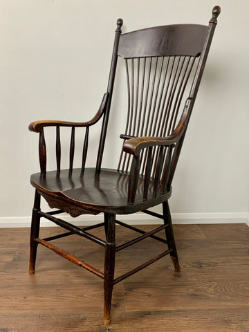 Antique American Stick Back Windsor Chair, Large - LOVINGLY MADE FURNITURE, SUSSEX - Antique & Vintage Furniture