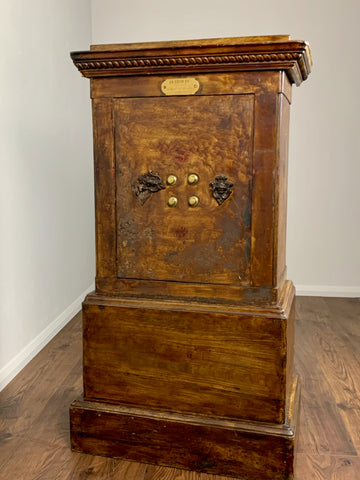 Antique French Parisian Safe, Petitjean SGDG - LOVINGLY MADE FURNITURE, SUSSEX - Antique & Vintage Furniture