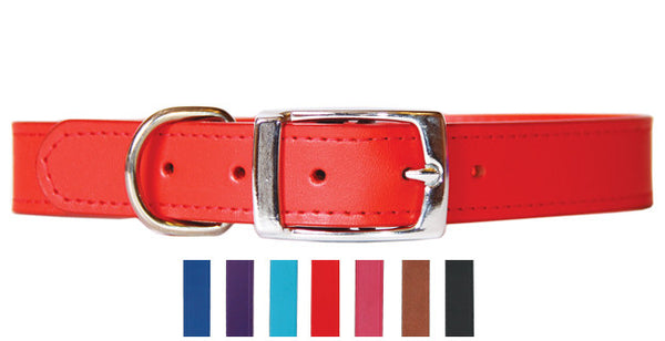 BEAU PETS Leather Sewn Plain Collar