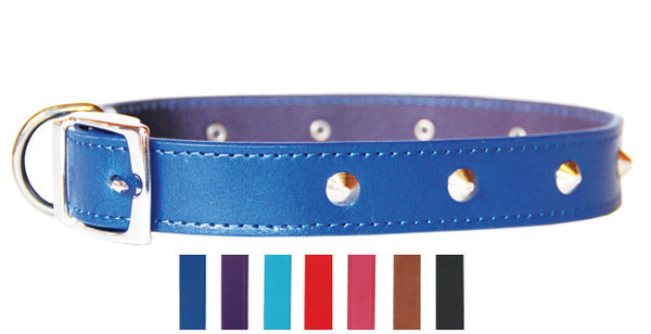 BEAU PETS Leather Sewn Stud Collar