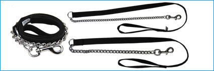 BEAU PETS Chain Leash with Web Handle