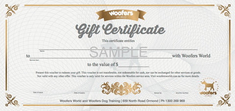 Woofers Gift Certificate - Retail