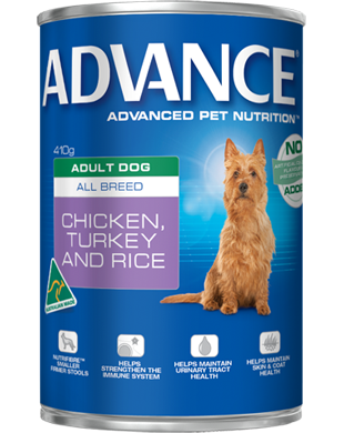 ADVANCE Adult All Breed Chicken, Turkey & Rice 410g