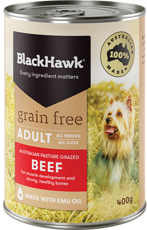 BLACK HAWK Grain Free Beef 12x400g