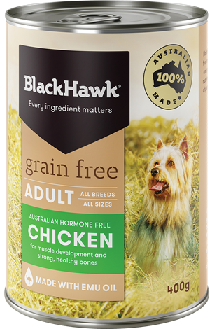 BLACK HAWK Grain Free Chicken 12x400g