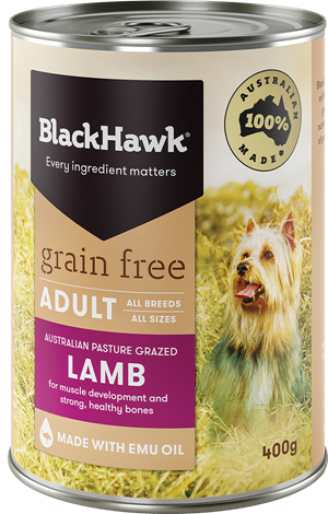BLACK HAWK Grain Free Lamb 12x400g