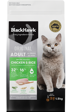 BLACK HAWK Adult Cat Chicken 3kg