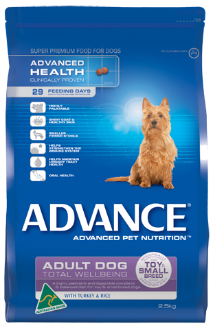 SPECIAL ORDER ~ ADVANCE Adult Total Wellbeing Toy Small Breed, Turkey & Rice