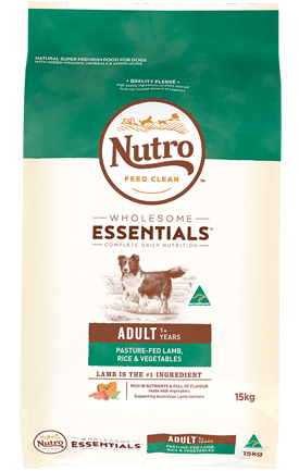 NUTRO Wholesome Essentials Adult Pasture-Fed Lamb, Rice & Vegetables