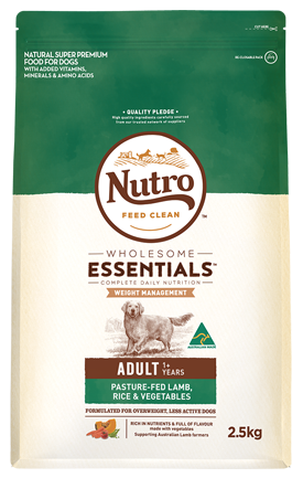 NUTRO Wholesome Essentials Healthy Weight Adult Pasture-Fed Lamb, Rice & Vegetables