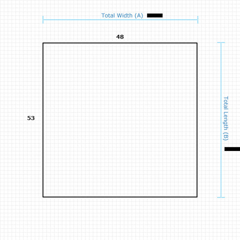 Custom Mat 1442850039 - Anchorbar Standard 48 x 53 Square / beveled / not aerated