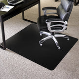 black square chair mat