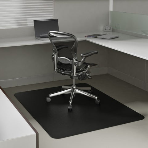 black square chair mat for hard floor