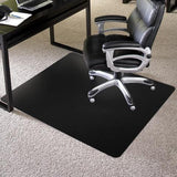 Black Chair Mat for Carpet, Rectangle