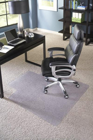 Clear Chair Mat for Carpet, Single Lip