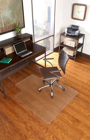 clear chair mat for wood floor - single lip
