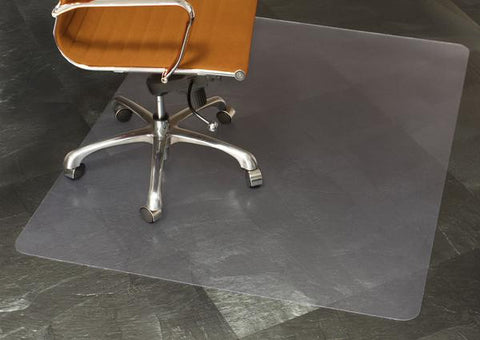 Clear Chair Mat for Hard Floors, Rectangle