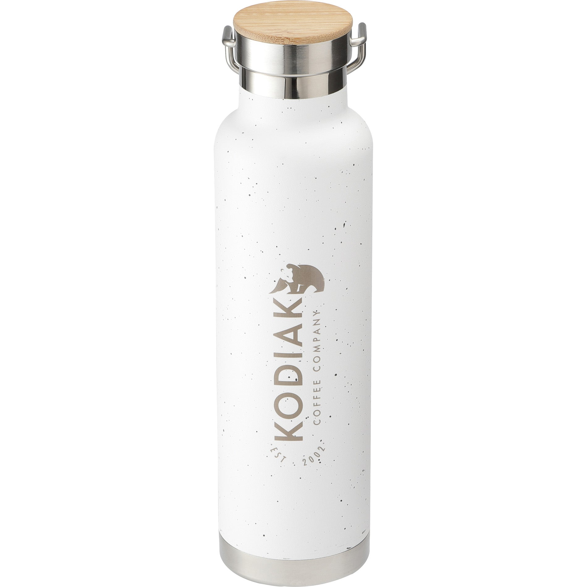 White Flecked Design Insulated Water Bottle