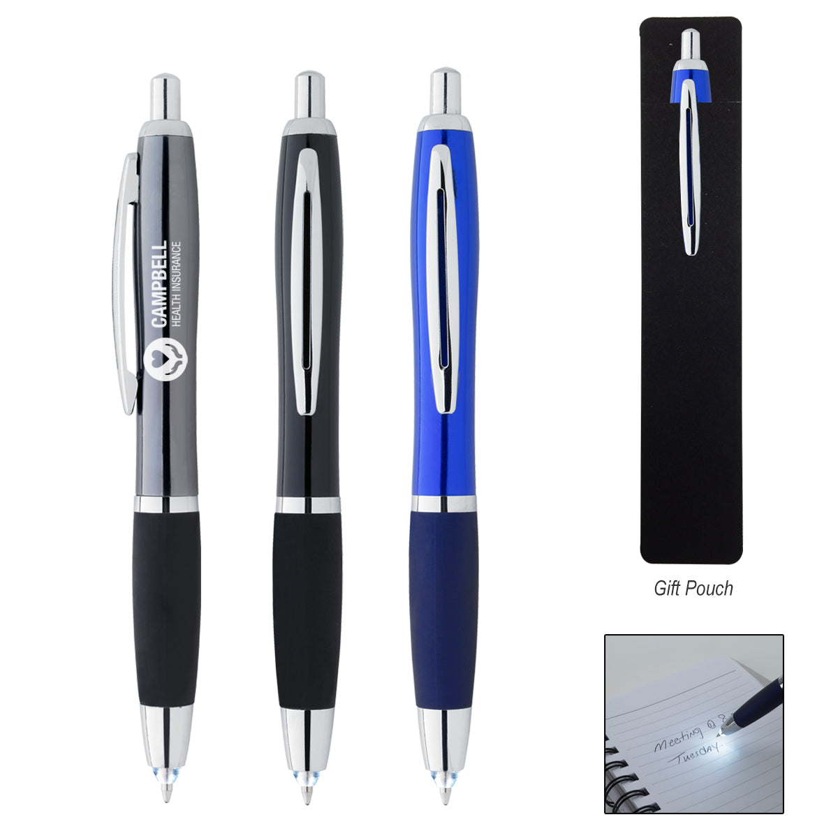 Retractable Pen with LED Light