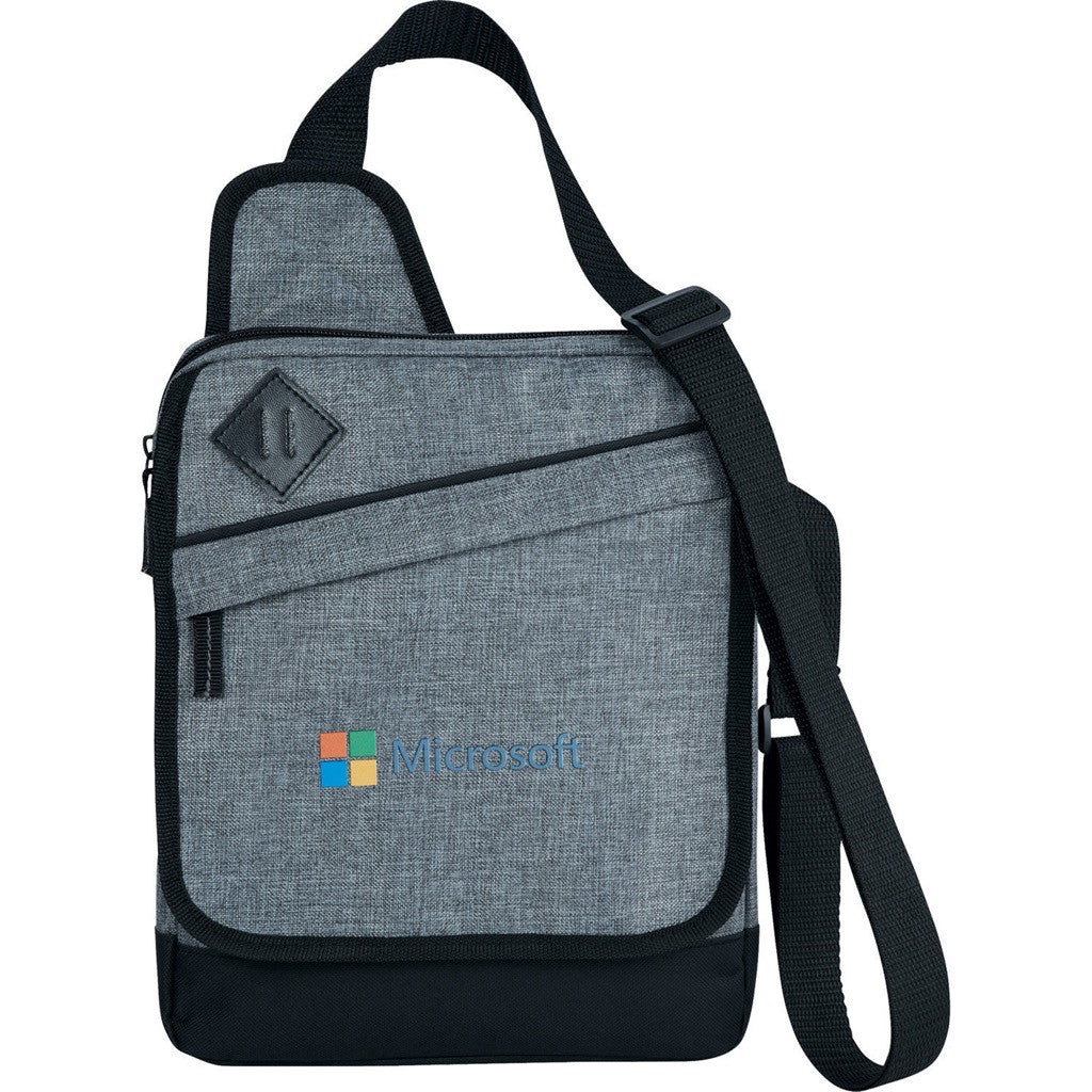 Charcoal Gray Tablet Messenger Bag