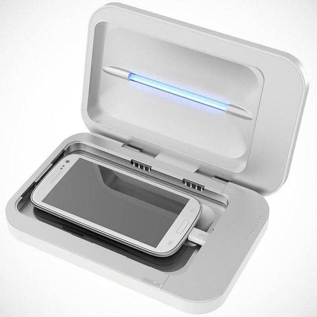 branded uv phone sanitizer open