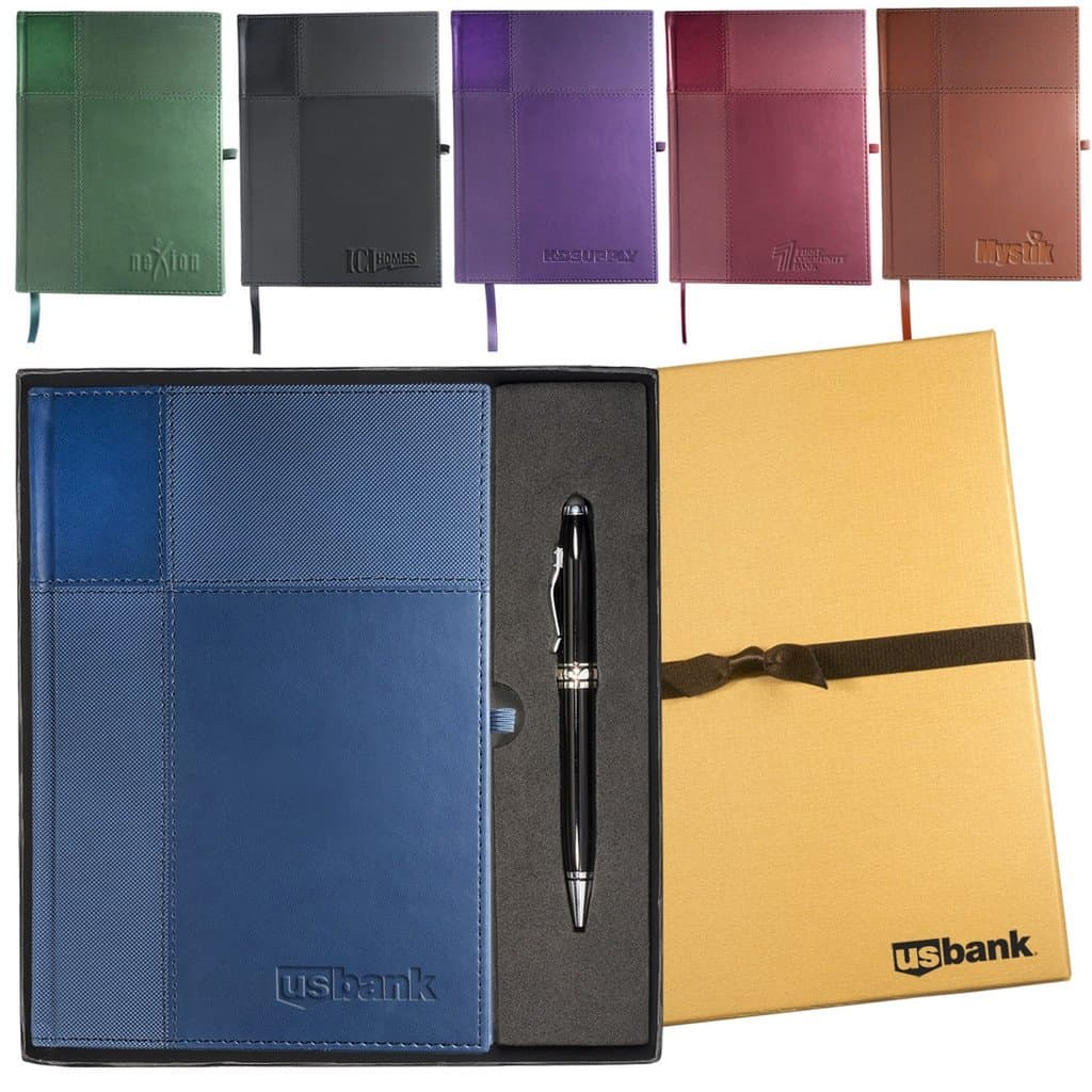 Journal and Stylus Pen Gift Set - colors
