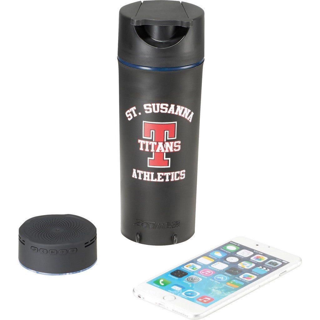 Tumbler with Removable Bluetooth Speaker