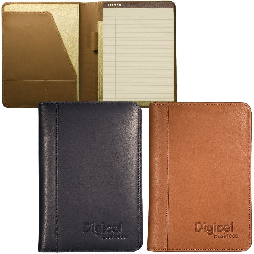 Full Grain Leather Junior Portfolio Debossed
