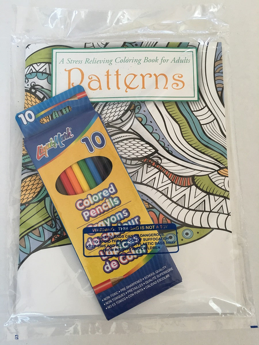 Adult Coloring Book Set Bagged